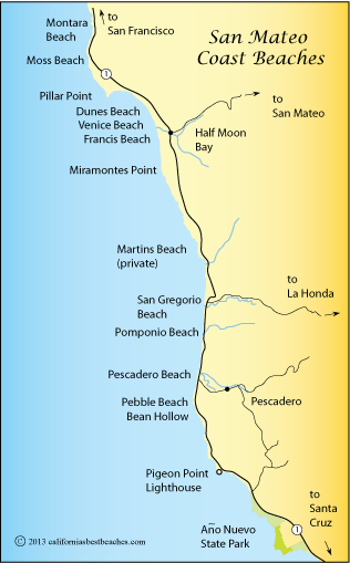 Half Moon Bay Beaches Directions mobile