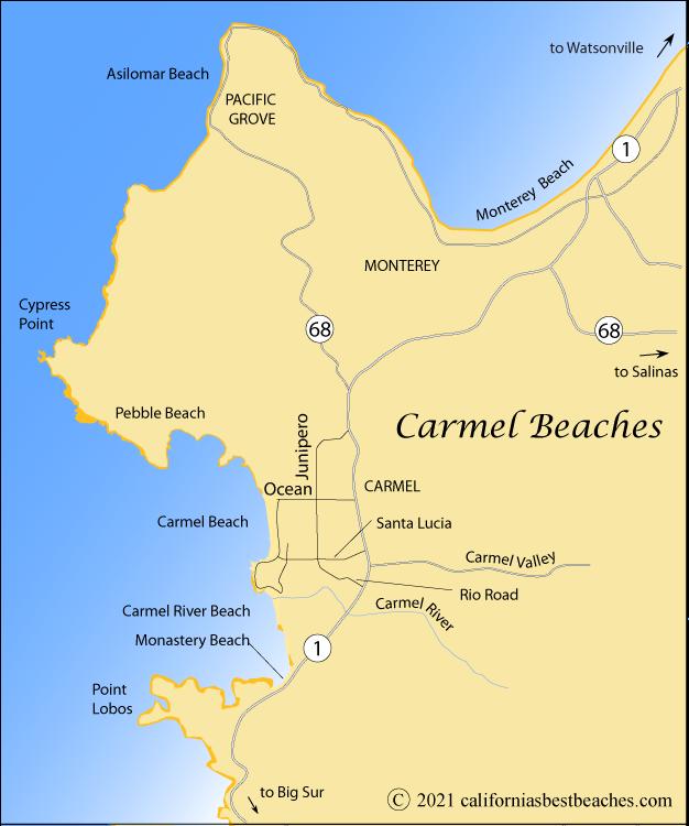 Carmel Beaches Directions Californias Best Beaches
