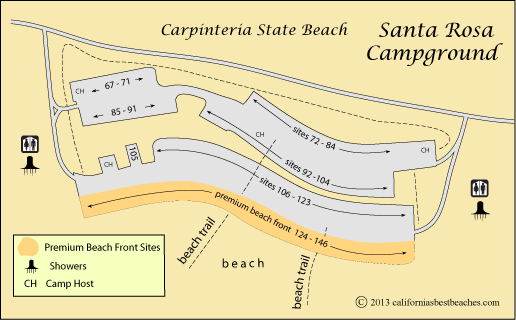 Refugio State Beach Rv Camping Reservations Santa Barbara