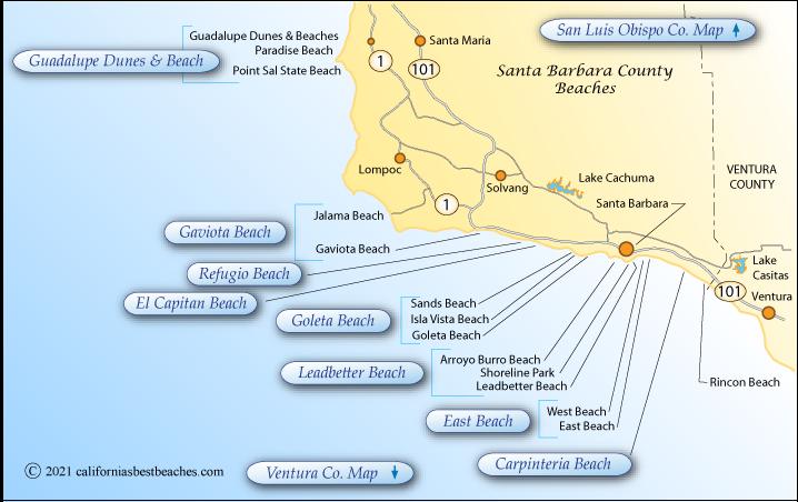 Santa Barbara County Beaches on