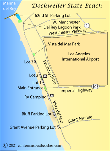 map of marina del rey