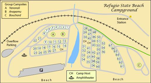 El Capitan Beach and Refugio Beach Camping on