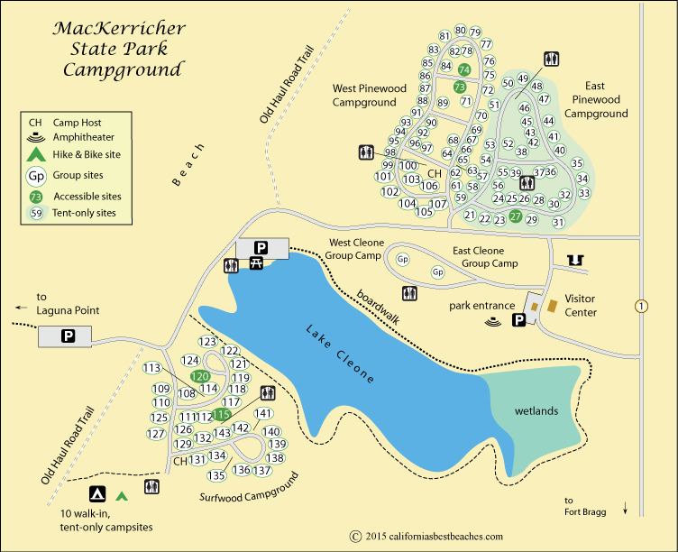 MacKerricher State Park Camping on