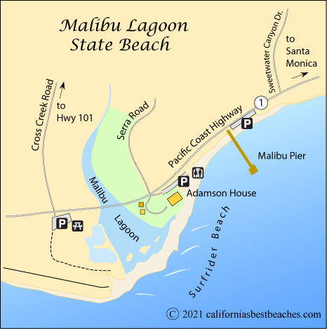 Map Of California Malibu.Malibu Lagoon Surfrider Beach California S Best Beaches