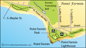 Map of Point Fermin, Los Angeles, CA