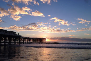 Crystal Pier, Pacific Beach, San Diego County, California