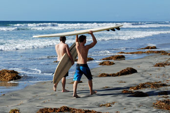 Fletcher Cove surfers, San Diego County, California