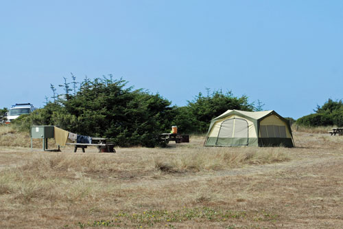 Gold Bluffs Beach Campground, Humboldt County, CA