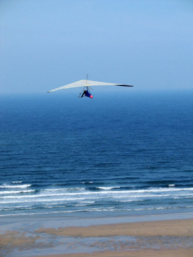 hang glider at the beach, CA