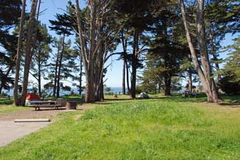 camping at New Brighton Beach, Santa Cruz County, CA
