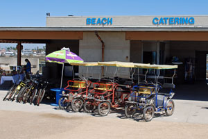Bicycle rentals at Bolsa Chica State Beach, Orange county, CA