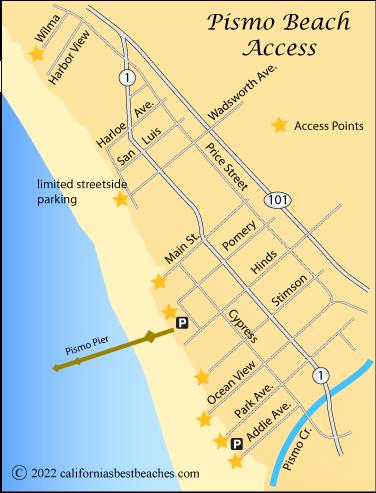 Street Map Of Pismo Beach Ca  Park Ave