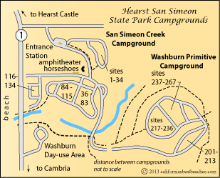 Hearst San Simeon State Park Camping - mobile on south el monte map, pismo beach map, moonstone beach map, yorba linda map, morro bay state park map, hearst castle map, pico rivera map, santa cruz map, van nuys map, hearst mansion map, casmalia map, carmel bay map, santa susana pass map, cayucos map, gorda map, lake san antonio map, yosemite national park map, mission san luis obispo map, turlock map,