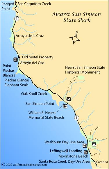 Hearst San Simeon State Park Beaches