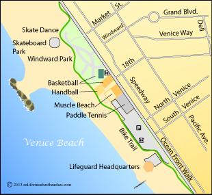 Map Of Venice Beach Surfing In Venice Pinterest Venice - Venice beach map