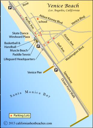 Venice Beach Californias Best Beaches Mobile - Venice beach map
