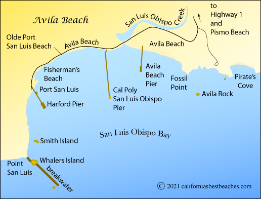 Map Of Avila Beach San Luis Obispo County Ca
