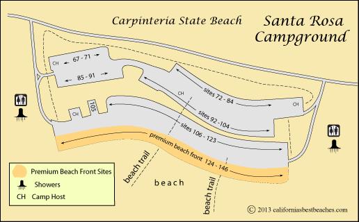 Carpinteria State Beach Camping