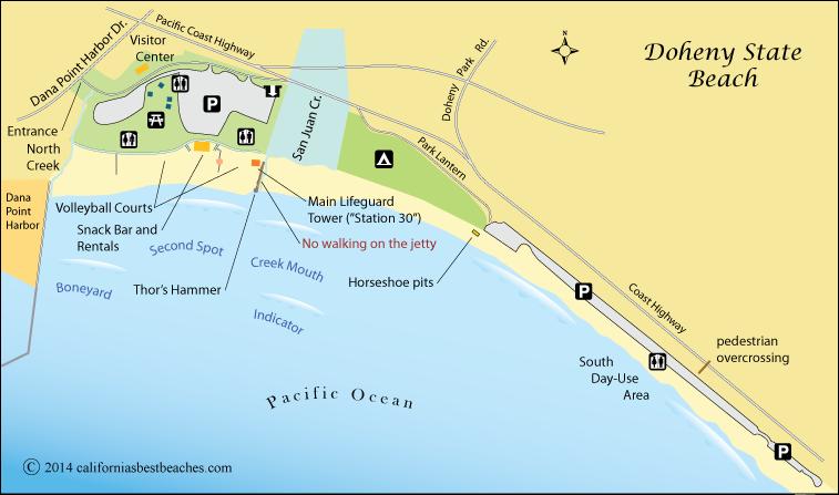 Doheny Beach Map Orange County Ca