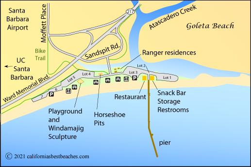 Map Of Goleta Beach Santa Barbara County Ca