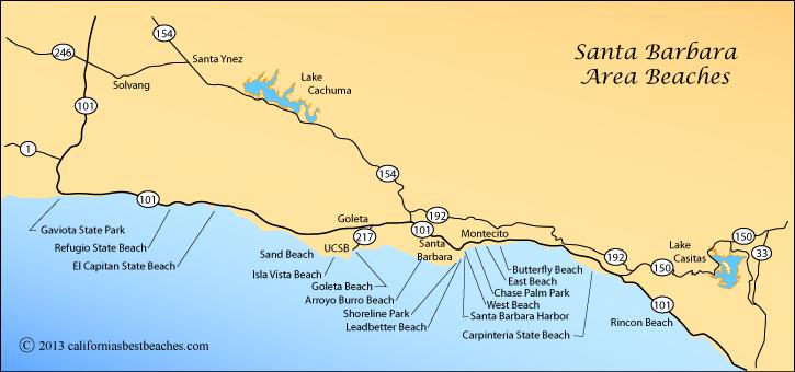 Map Of Beaches Around Santa Barbara California