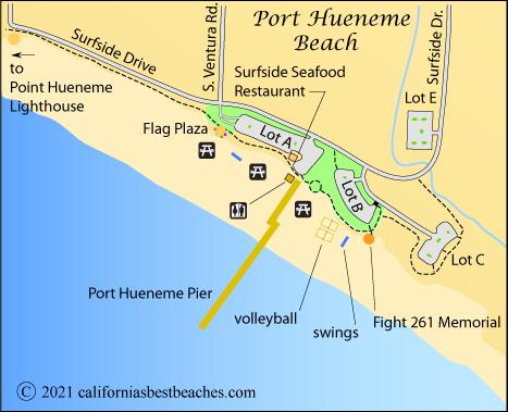 Map Of Hueneme Beach Ventura County Ca