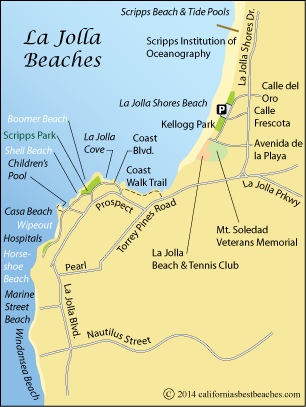 La Jolla Beaches Directions Mobile
