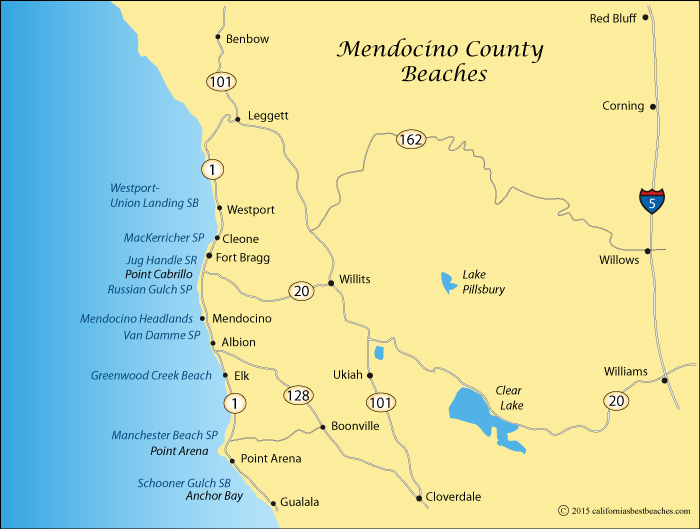 Mendocino Headlands And Big River Beach Directions