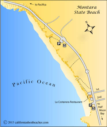 Map Of Montara State Beach Ca