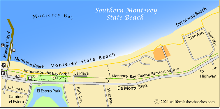 Monterey State Beach Map County Ca