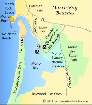 Map Of Morro Bay San Luis Obispo County Ca