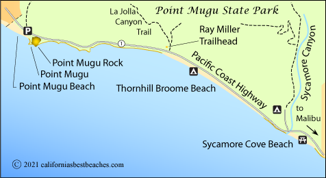 Point Mugu State Park Map Ventura County Ca