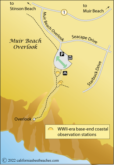 Image result for muir beach lookout map