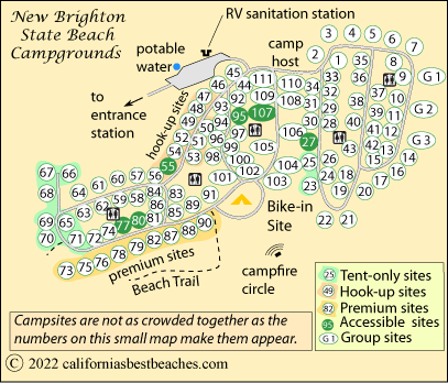 New Brighton Beach Campground Santa Cruz County Ca