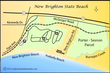 New Brighton Beach Santa Cruz County Ca