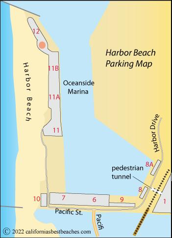 Harbor Beach Parking Map Oceanside San Go County Ca