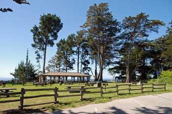Picnic Area At New Brighton Beach Santa Cruz County Ca