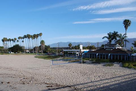 Volleyball Net At Goleta Beach Santa Barbara County Ca