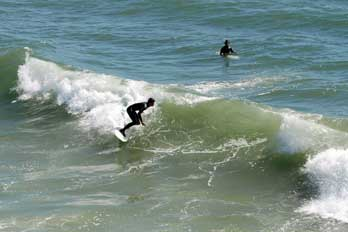 Surfing At Pismo Beach San Luis Obispo County Ca
