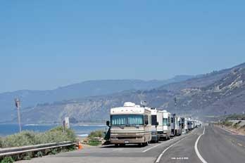 Rincon Parkway Camping Ventura County Ca
