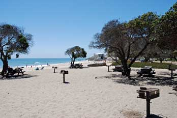 Day Use Picnic Area At Sycamore Cove Beach Point Mugu State Park Ventura County