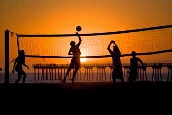 Volleyball On Hermosa Beach Ca