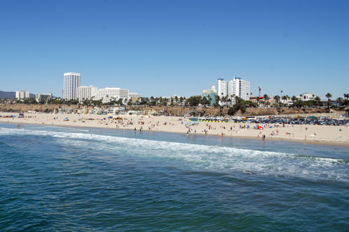 Santa Monica Beach Features