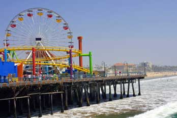 Santa Monica Pier Los Angeles County Ca