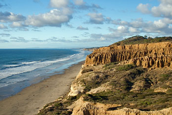Torrey Pines State Beach San Go County California