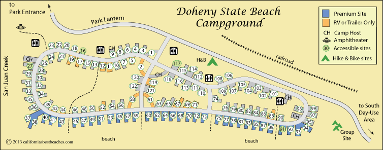 Doehny State Beach Camping - California's Best Beaches on