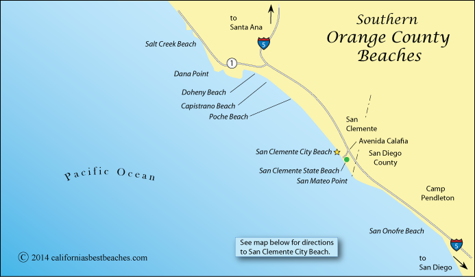 Map Of Southern Orange County Beaches California