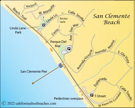 San Clemente Map San Clemente Beach   California's Best Beaches