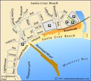 Santa Cruz Beach Boardwalk Map The Best Beaches In World