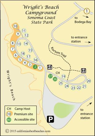 Camping Wrights Beach Ca